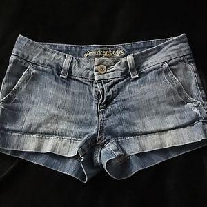 American Eagle Girls Blue Jean Shorts Size 4